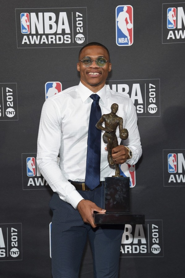 Russell Westbrookot, az Oklahoma City Thunder kosarasát választották meg az NBA elmúlt idényének legjobbjává.